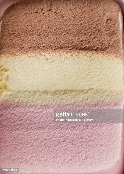 Neapolitan ice cream (full frame)