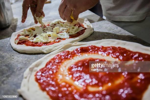 Neapolitan pizza margherita, Naples, Italy January 31th,2019