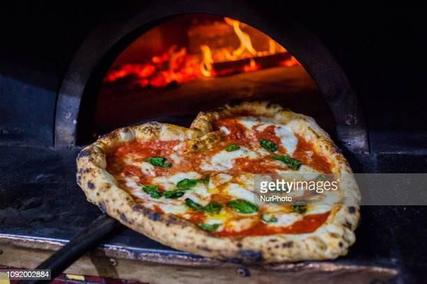 Neapolitan Valentine's pizza margherita Naples Italy January 31th2019
