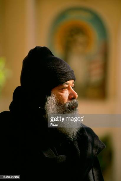 Near Bir Hooker Coptic Monastery of St BishoyPortrait of a monk of the Monastery of St Bichoy