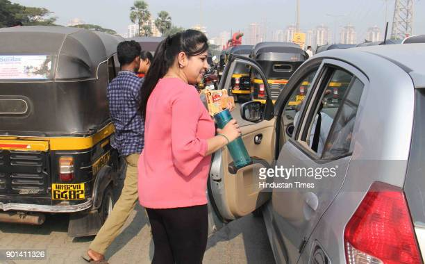 Near by office staff distributing biscuits and water to commuters stuck in Traffic jammed for more than 5 hours due to Rasta Roko by Dalit protesters...