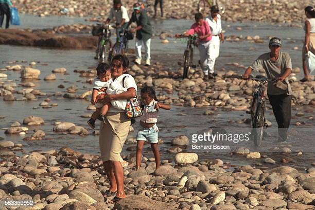 Near Choluteca a town devastated by the river of the same name flooding over life gradually gets back to normal