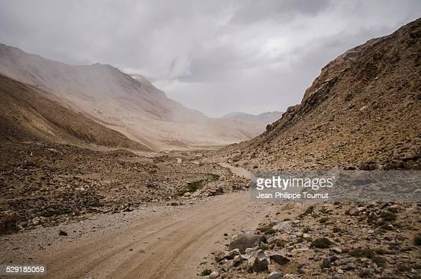 Near Kargush pass in the Pamir mountains