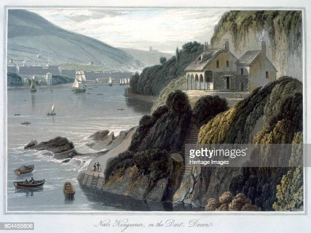 Near Kingswear on the Dart Devon' 1825 From A Voyage Around Great Britain Undertaken between the Years 1814 and 1825 by William Daniell Artist...