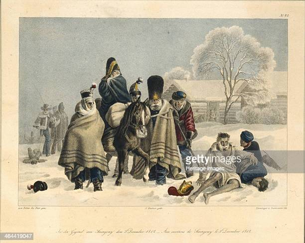 Near Smarhon on December 3 1820s. Found in the collection of the State Borodino War and History Museum, Moscow.