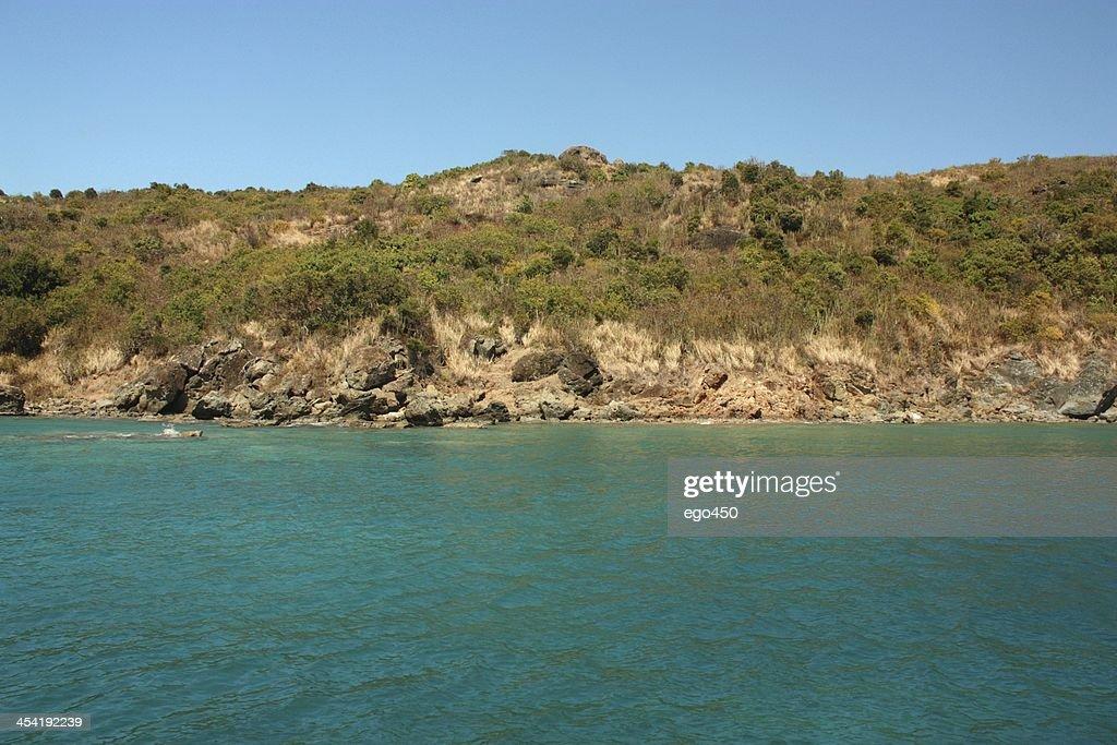 Perto da ilha das Caraíbas : Foto de stock