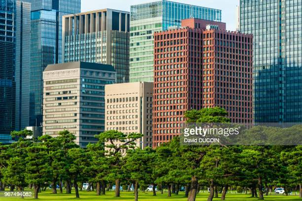 Near The East Gardens of the Imperial Palace Marunouchi area Tokyo August 15 Japan