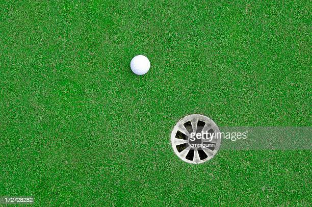 near the hole - golf stock pictures, royalty-free photos & images