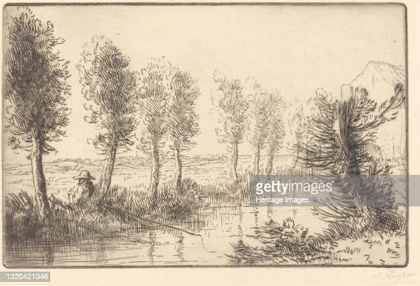 Near the Mill . Artist Alphonse Legros.