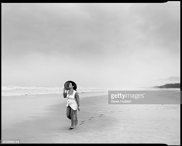 Near the village of My Lai one of the survivors of the 1968 massacre there Pham Thi Tranh walks on the beach at Bien Dong Bay Vietnam 1995 During the...