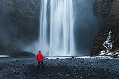 Near the waterfall