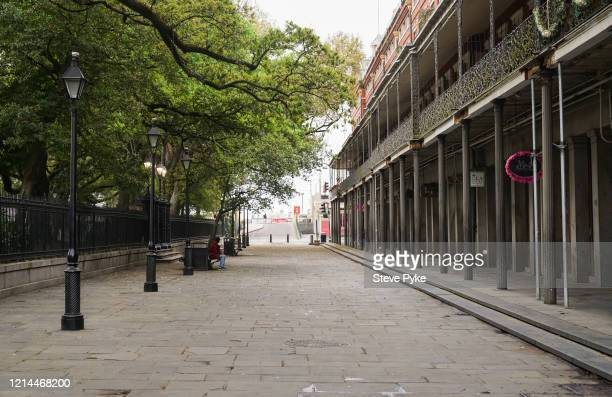 A neardeserted street in the French Quarter of New Orleans amid restrictions in place to help deal with the Covid19 pandemic 22nd March 2020