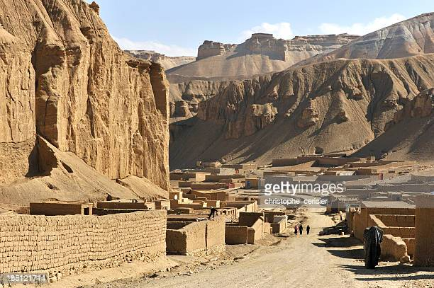 Near-empty village in the deserts of Afghanistan
