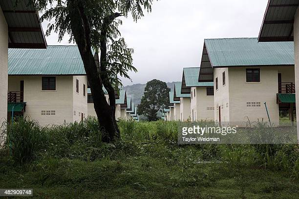 Nearidentical structures have been built to house the residents of the five villages who will be displaced by the planned Dawei SEZ on August 2 2015...