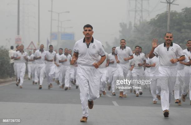 Nearly 1200 police personnel taking Oath of Unity during the Run for Unity on the 142nd birth anniversary of Sardar Vallabhbhai Patel at Tau Devi Lal...