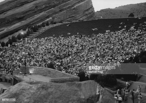 Nearly an hour before Gisele MacKenzie's concert Red Rocks Amphitheater is more than half filled with music lovers enjoying picnic suppers and the...