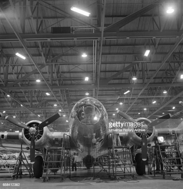 Nearly Complete B17F Bomber at Boeing Plant Seattle Washington USA Andreas Feininger for Office of War Information December 1942