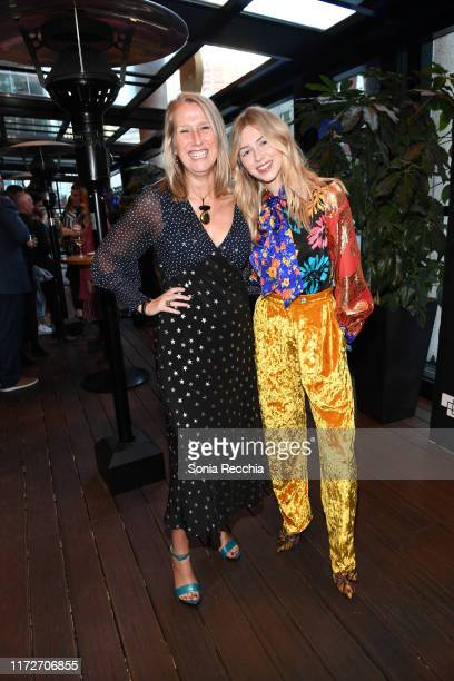 Neasa Hardiman and Hermione Corfield attend prescreening cocktail reception for the world premiere film Sea Fever at Pick 6ix Sports on September 05...