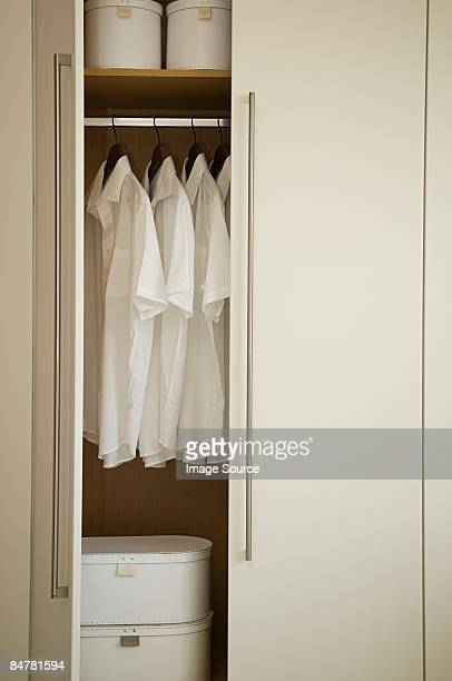neat closet - open blouse stock photos and pictures
