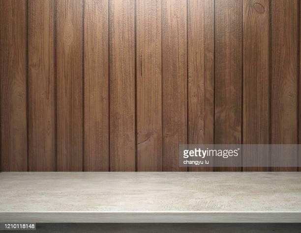 neat exhibition table; - forro de madeira - fotografias e filmes do acervo