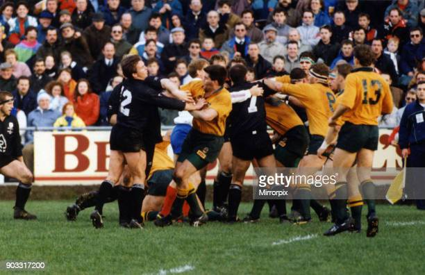 Neath 8-16 Australia, 1992 Australia rugby union tour of Europe, aka Wallabies Spring tour, match action at The Gnoll, Neath, Wales, Wednesday 11th...