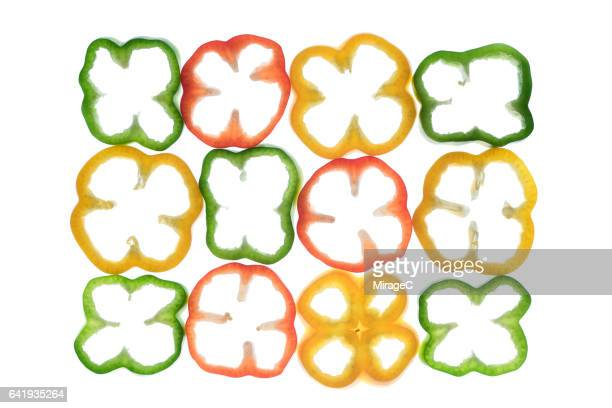 Neatly Arranged Bell Pepper Rings
