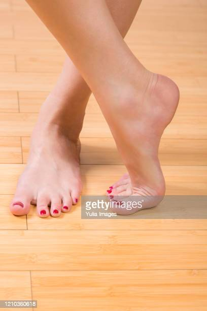 neatly painted toenails and fingernails - pretty toes and feet stock pictures, royalty-free photos & images