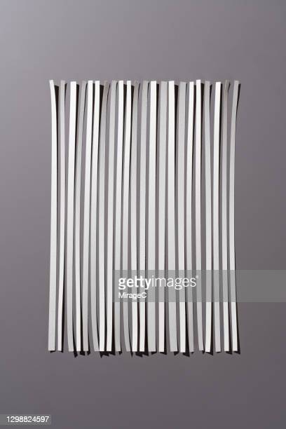 neatly spliced shredded paper - strip stock pictures, royalty-free photos & images