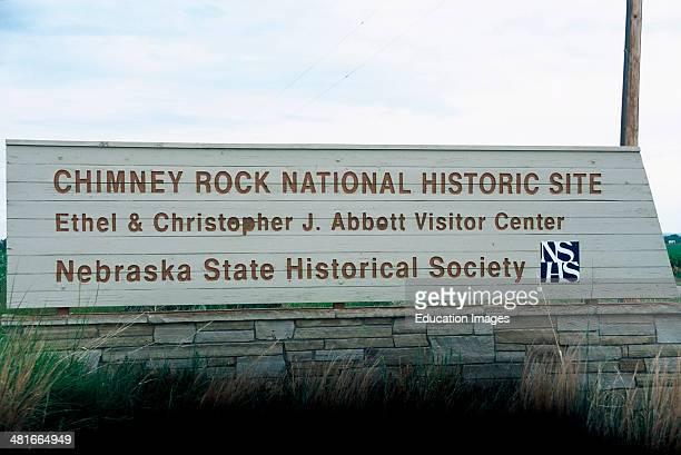 Nebraska Bayard Chimney Rock National Historic Site Monument Sign