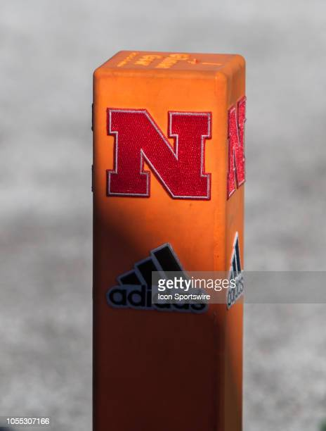 Nebraska branded pylon sits in the end zone during the game between the BethuneCookman Wildcats and the Nebraska Cornhuskers on Saturday October 27...