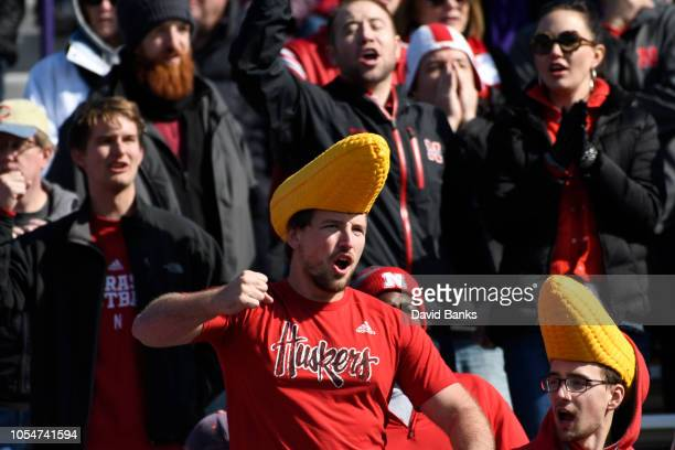 Nebraska Cornhusker fans during the second half on October 13 2018 at Ryan Field in Evanston Illinois Northwestern won 3431 in overtime