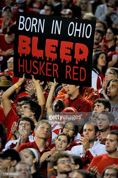 Nebraska Cornhusker fans express their thoughts with a sign during their game at Memorial Stadium October 8, 2011 in Lincoln, Nebraska. Nebraska...
