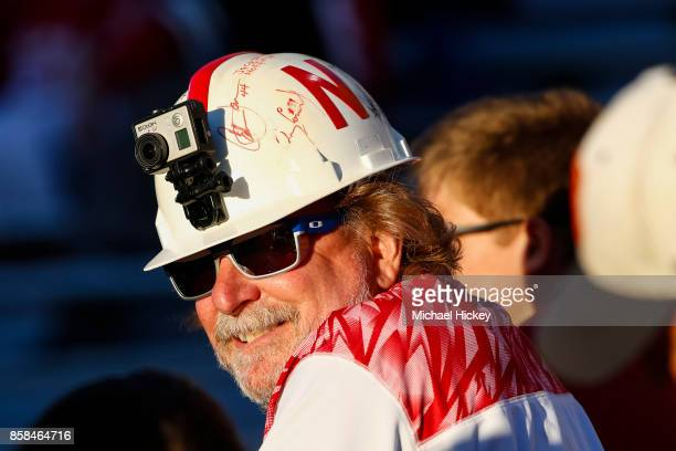 Nebraska Cornhuskers fans are seen before the game against the Illinois Fighting Illini at Memorial Stadium on September 29 2017 in Champaign Illinois