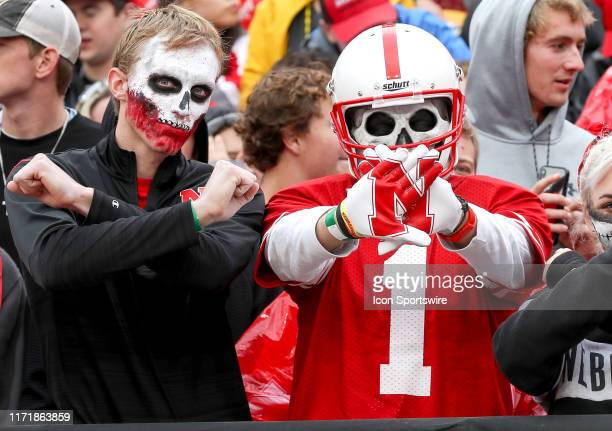 Nebraska Cornhuskers fans get ready for the game between the Ohio State Buckeyes and the Nebraska Cornhuskers on September 28 played at Memorial...