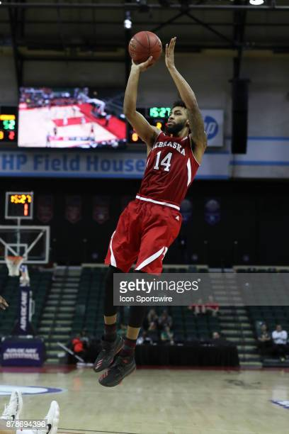 Nebraska Cornhuskers forward Isaac Copeland attempts a jump shot before the shot clock runs out in the 2nd half of the AdvoCare Invitational mens...