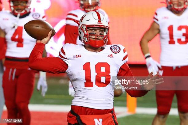 Nebraska Cornhuskers quarterback Matt Masker during warm up prior to the college football game between the the Rutgers Scarlet Knights and the...