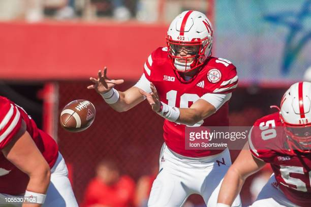 Nebraska Cornhuskers quarterback Noah Vedral receives a snap during the game between the BethuneCookman Wildcats and the Nebraska Cornhuskers on...