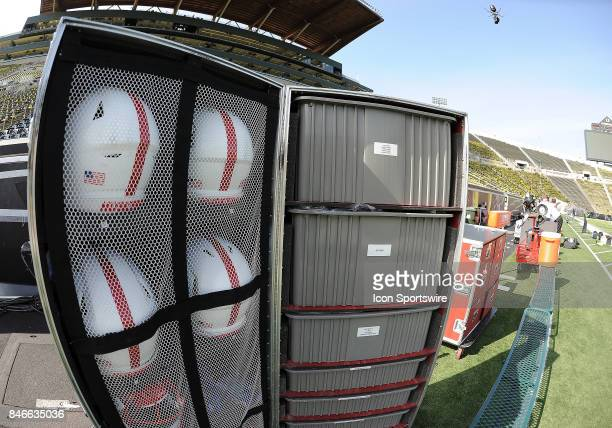 Nebraska equipment box sits on the sideline during a college football game between the Nebraska Cornhuskers and Oregon Ducks on September 9 at Autzen...