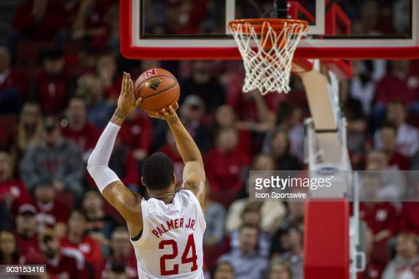 Nebraska guard James Palmer Jr makes a free throw against Wisconsin during the second half of a college basketball game Tuesday January 9th at the...