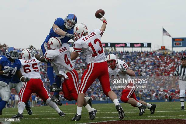 Nebraska quarterback Zac Taylor passes over coverage against Kansas The Kansas Jayhawks beat the Nebraska Cornhuskers 4015 in Lawrence Kansas at...