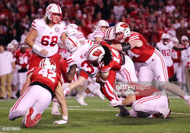 Nebraska running back Terrell Newby advances the ball during game action Wisconsin beat Nebraska in overtime by a final score of 2317 on October 29...