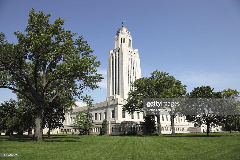 Nebraska State Capitol in Lincoln, Nebraska : Stock Photo