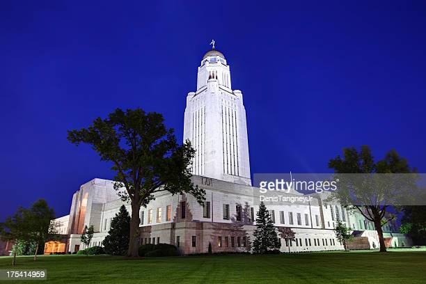 nebraska state capitol - lincoln nebraska stock pictures, royalty-free photos & images
