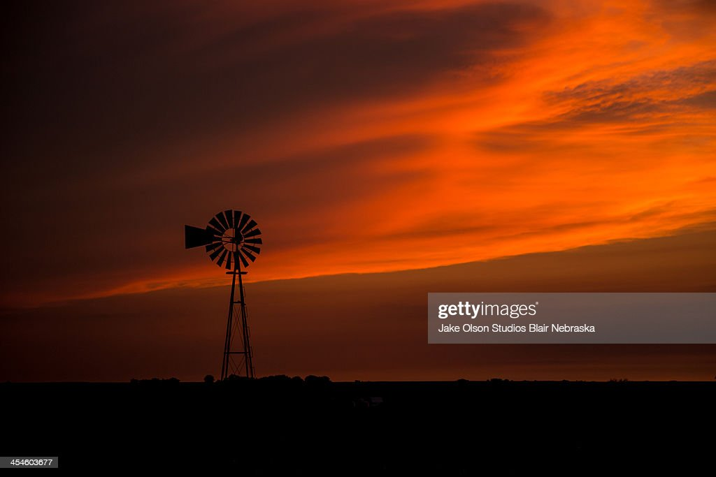 Nebraska Sunset : Stock Photo