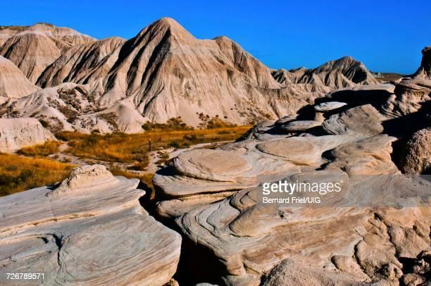 Nebraska, Toadstool Geologic Park, Swirling Rock Patterns