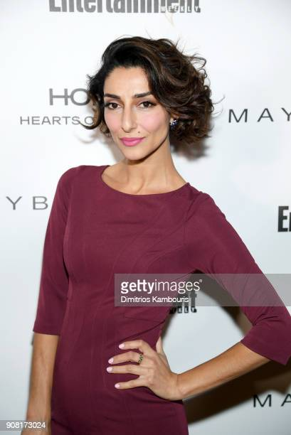 Necar Zadegan attends Entertainment Weekly's Screen Actors Guild Award Nominees Celebration sponsored by Maybelline New York at Chateau Marmont on...