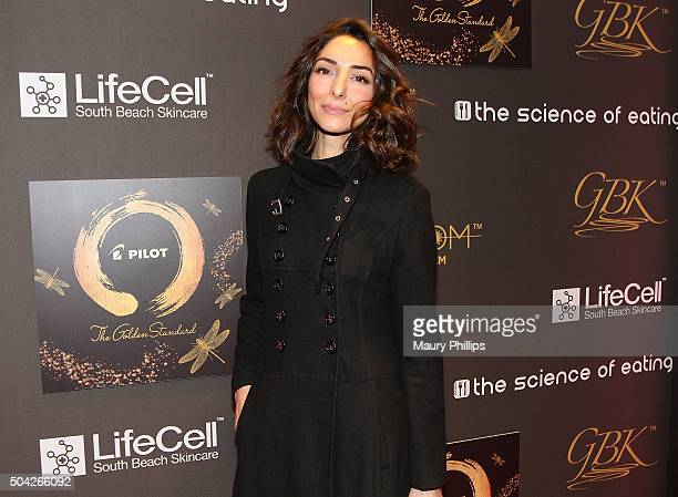 Necar Zadegan attends GBK Pilot Pen Golden Globes 2016 Luxury Lounge Day 2 at W Hollywood on January 9 2016 in Hollywood California