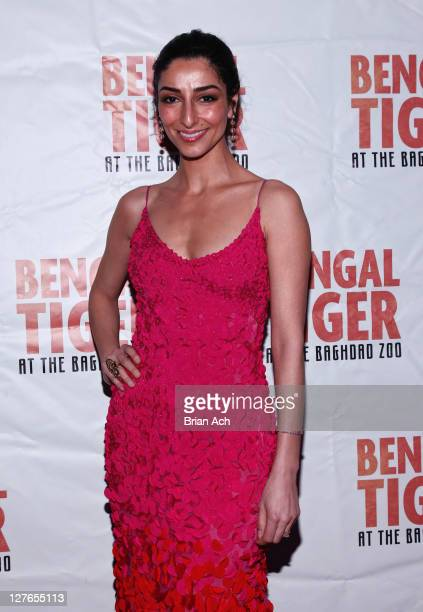 Necar Zadegan attends the after party for opening night of Bengal Tiger At The Baghdad Zoo at Espace on March 31 2011 in New York City