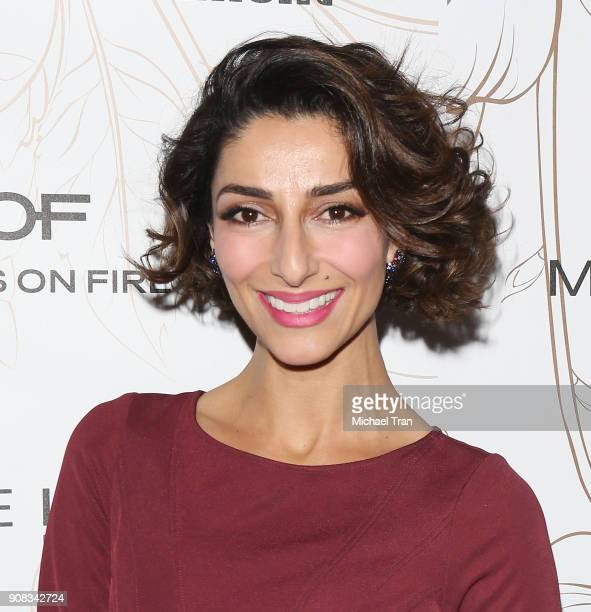 Necar Zadegan attends the Entertainment Weekly hosts celebration honoring nominees for The Screen Actors Guild Awards held on January 20 2018 in Los...