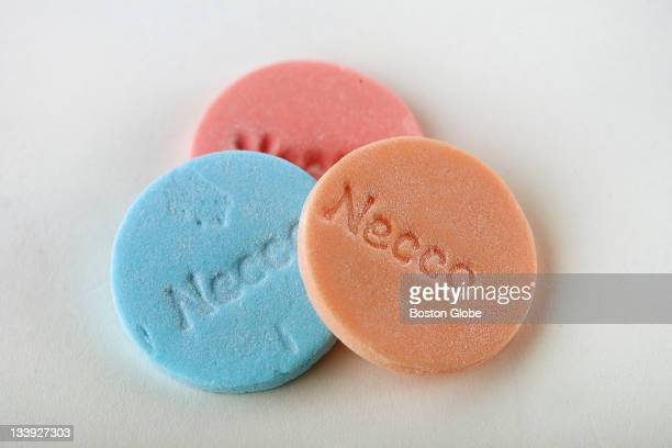 Necco Smoothies Wafers which come in blueberry banana caramel tropical peach and strawberry creme
